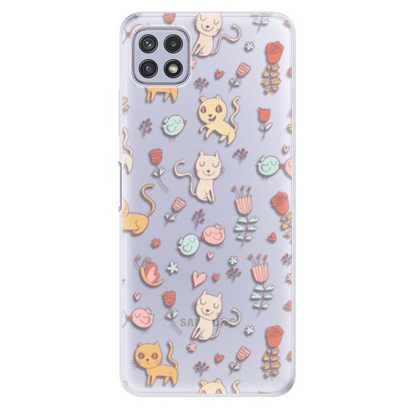 Odolné silikonové pouzdro iSaprio - Cat pattern 02 - Samsung Galaxy A22 5G