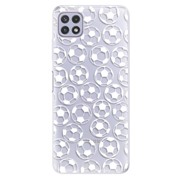 Odolné silikonové pouzdro iSaprio - Football pattern - white - Samsung Galaxy A22 5G