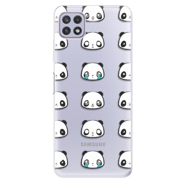Odolné silikonové pouzdro iSaprio - Panda pattern 01 - Samsung Galaxy A22 5G