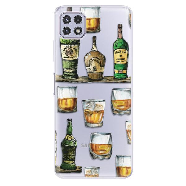 Odolné silikonové pouzdro iSaprio - Whisky pattern - Samsung Galaxy A22 5G