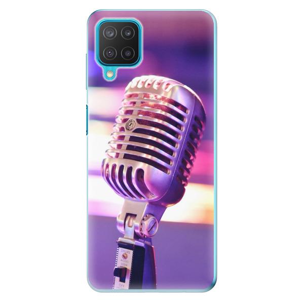 Odolné silikonové pouzdro iSaprio - Vintage Microphone - Samsung Galaxy M12