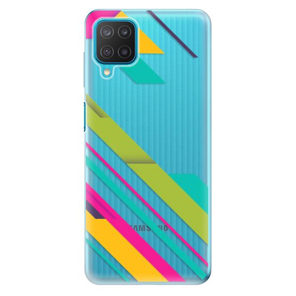 Odolné silikonové pouzdro iSaprio - Color Stripes 03 - Samsung Galaxy M12