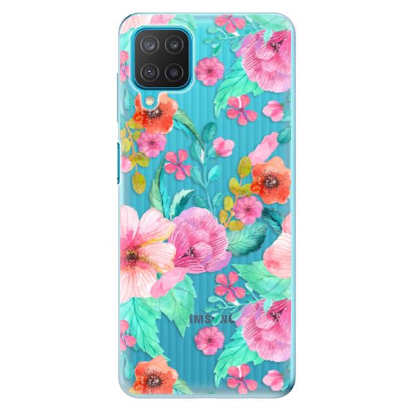 Odolné silikonové pouzdro iSaprio - Flower Pattern 01 - Samsung Galaxy M12