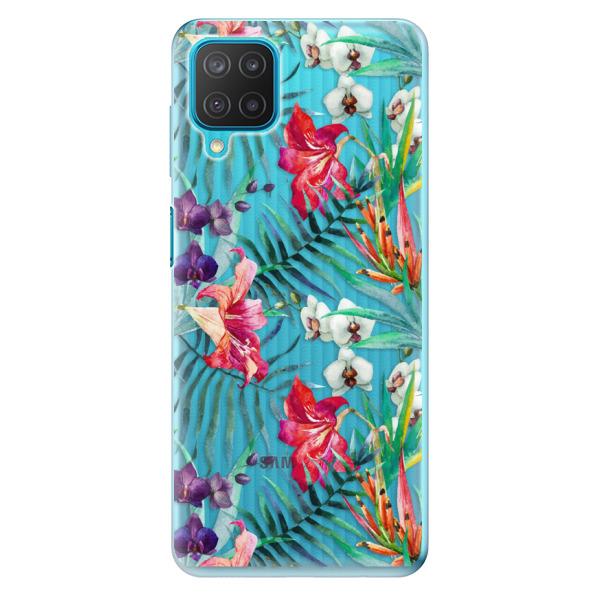 Odolné silikonové pouzdro iSaprio - Flower Pattern 03 - Samsung Galaxy M12