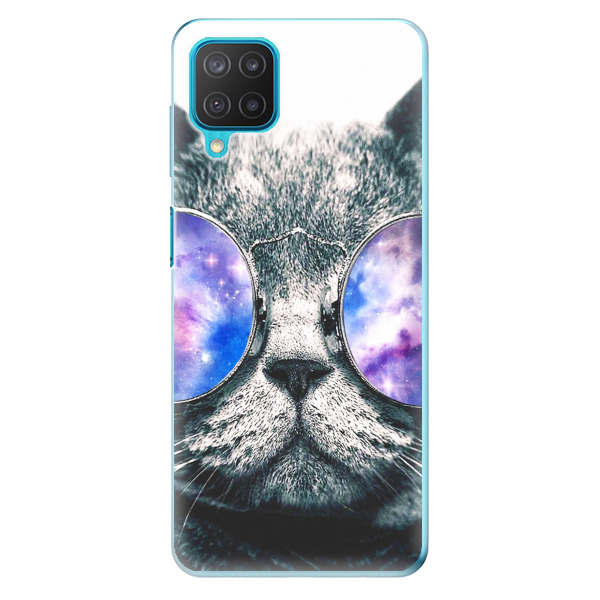 Odolné silikonové pouzdro iSaprio - Galaxy Cat - Samsung Galaxy M12
