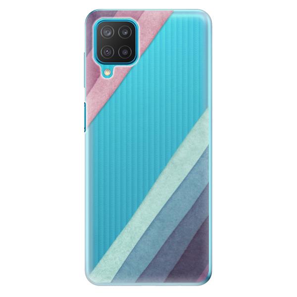 Odolné silikonové pouzdro iSaprio - Glitter Stripes 01 - Samsung Galaxy M12