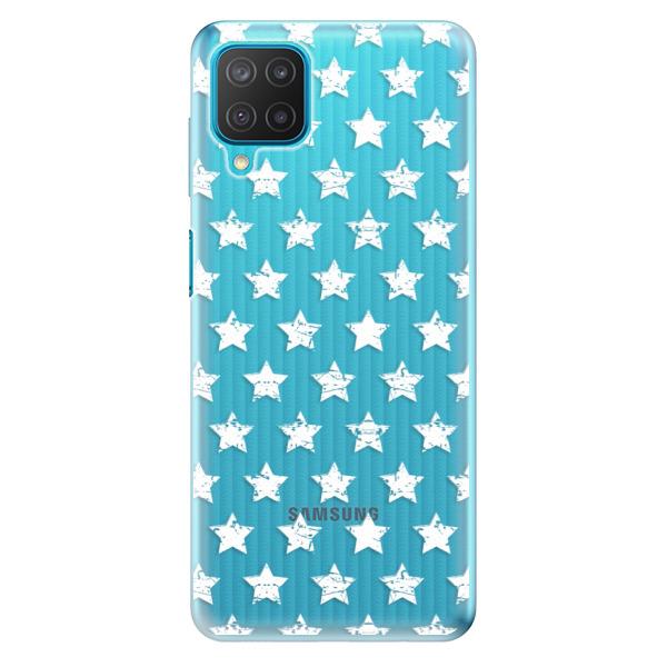 Odolné silikonové pouzdro iSaprio - Stars Pattern - white - Samsung Galaxy M12