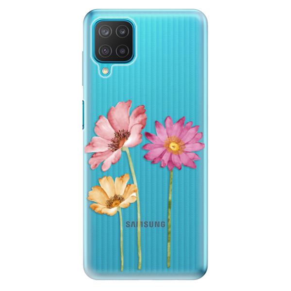 Odolné silikonové pouzdro iSaprio - Three Flowers - Samsung Galaxy M12