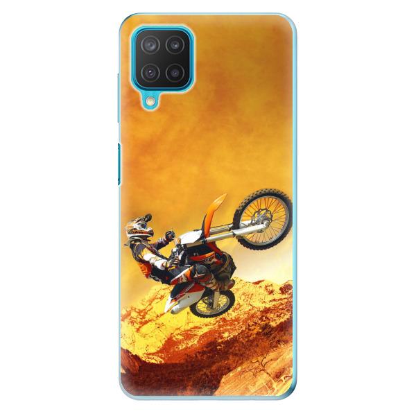 Odolné silikonové pouzdro iSaprio - Motocross - Samsung Galaxy M12