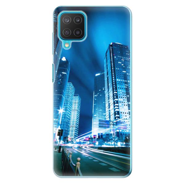 Odolné silikonové pouzdro iSaprio - Night City Blue - Samsung Galaxy M12