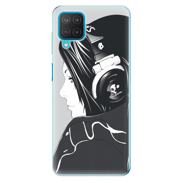 Odolné silikonové pouzdro iSaprio - Headphones - Samsung Galaxy M12