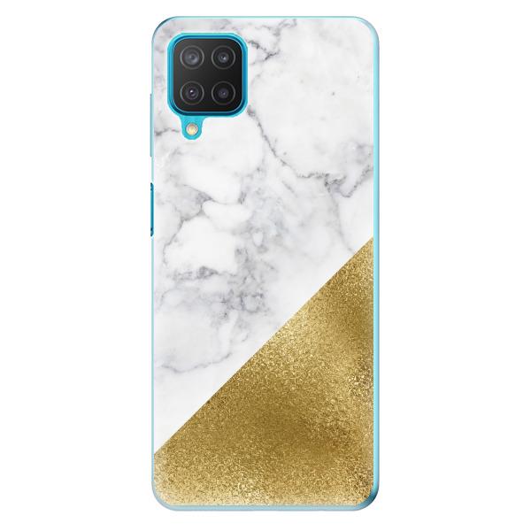 Odolné silikonové pouzdro iSaprio - Gold and WH Marble - Samsung Galaxy M12