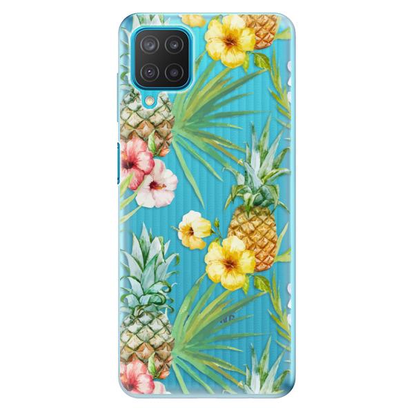 Odolné silikonové pouzdro iSaprio - Pineapple Pattern 02 - Samsung Galaxy M12