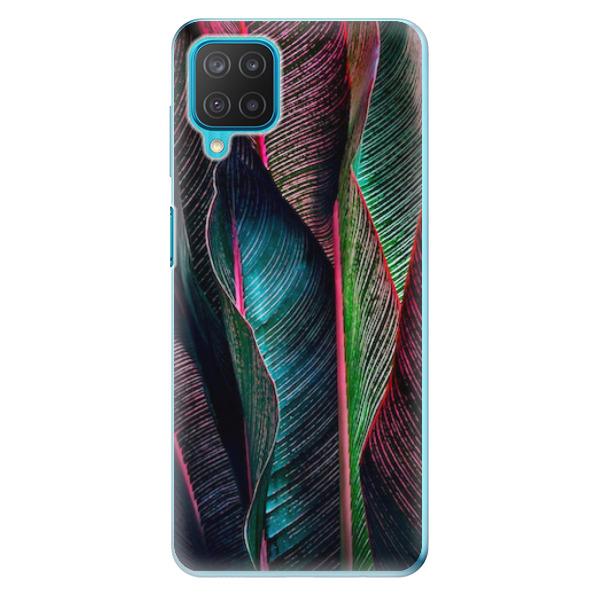 Odolné silikonové pouzdro iSaprio - Black Leaves - Samsung Galaxy M12
