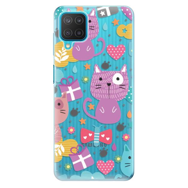 Odolné silikonové pouzdro iSaprio - Cat pattern 01 - Samsung Galaxy M12