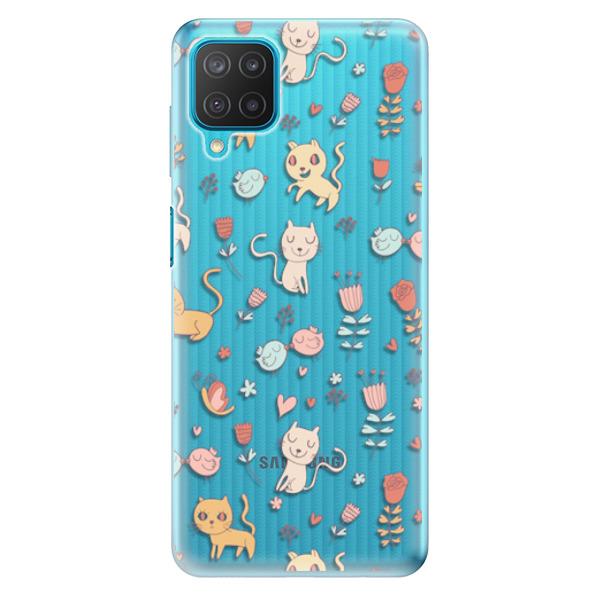 Odolné silikonové pouzdro iSaprio - Cat pattern 02 - Samsung Galaxy M12