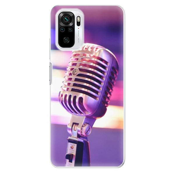 Odolné silikonové pouzdro iSaprio - Vintage Microphone - Xiaomi Redmi Note 10 / Note 10S