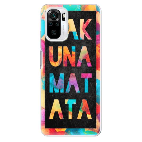 Odolné silikonové pouzdro iSaprio - Hakuna Matata 01 - Xiaomi Redmi Note 10 / Note 10S