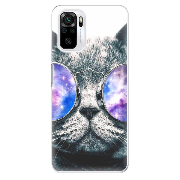 Odolné silikonové pouzdro iSaprio - Galaxy Cat - Xiaomi Redmi Note 10 / Note 10S