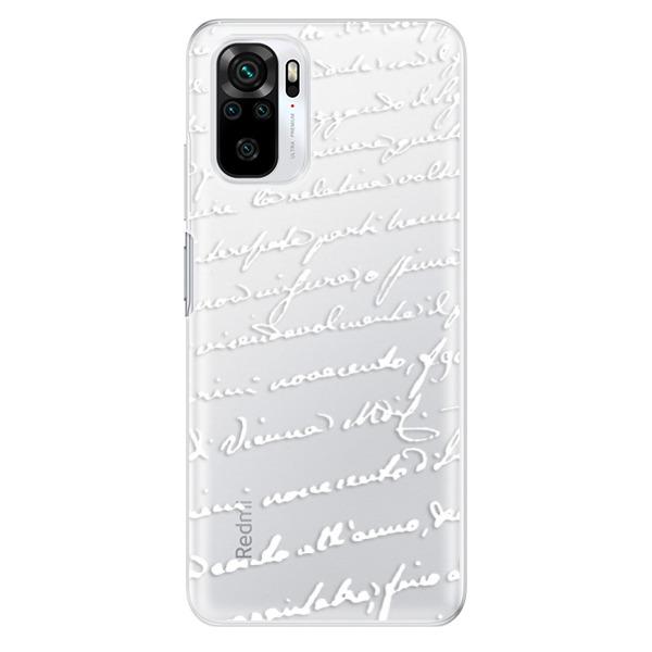 Odolné silikonové pouzdro iSaprio - Handwriting 01 - white - Xiaomi Redmi Note 10 / Note 10S