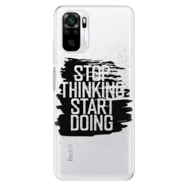 Odolné silikonové pouzdro iSaprio - Start Doing - black - Xiaomi Redmi Note 10 / Note 10S