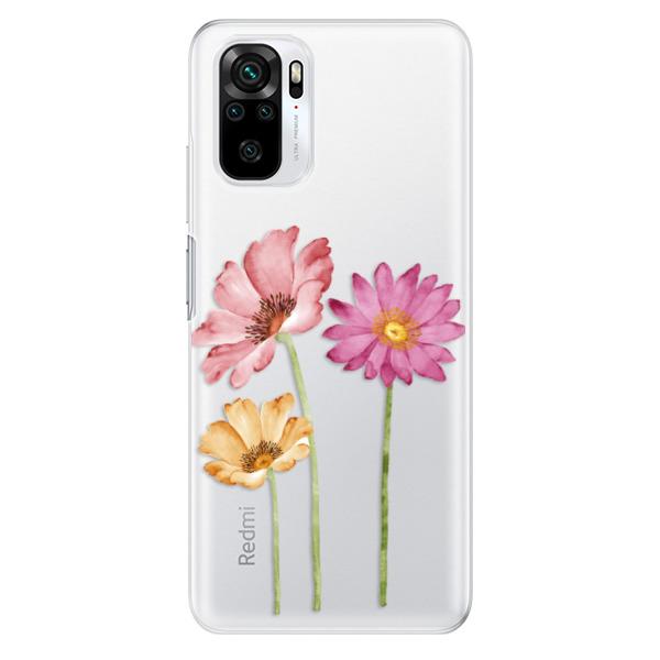 Odolné silikonové pouzdro iSaprio - Three Flowers - Xiaomi Redmi Note 10 / Note 10S
