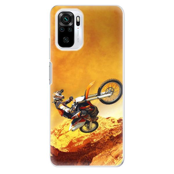 Odolné silikonové pouzdro iSaprio - Motocross - Xiaomi Redmi Note 10 / Note 10S