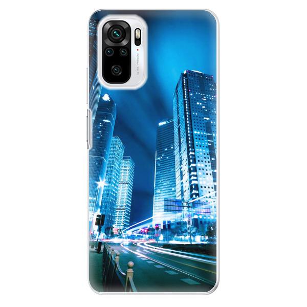Odolné silikonové pouzdro iSaprio - Night City Blue - Xiaomi Redmi Note 10 / Note 10S