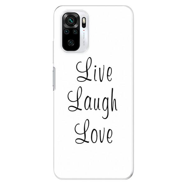 Odolné silikonové pouzdro iSaprio - Live Laugh Love - Xiaomi Redmi Note 10 / Note 10S