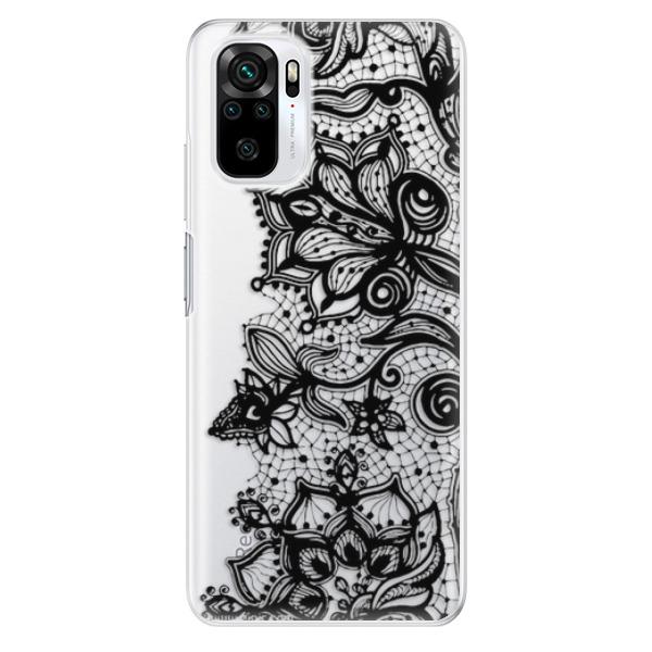 Odolné silikonové pouzdro iSaprio - Black Lace - Xiaomi Redmi Note 10 / Note 10S