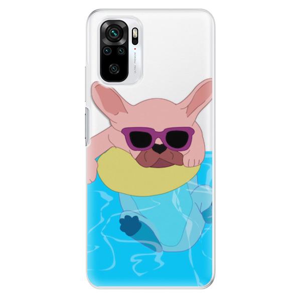Odolné silikonové pouzdro iSaprio - Swimming Dog - Xiaomi Redmi Note 10 / Note 10S