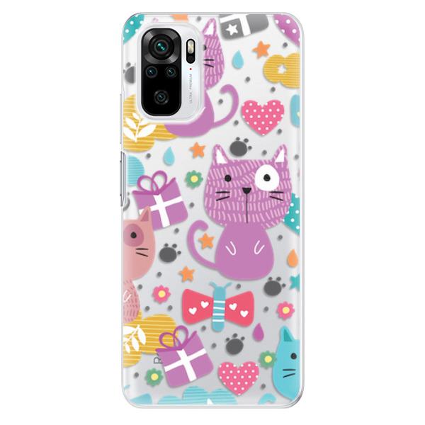 Odolné silikonové pouzdro iSaprio - Cat pattern 01 - Xiaomi Redmi Note 10 / Note 10S