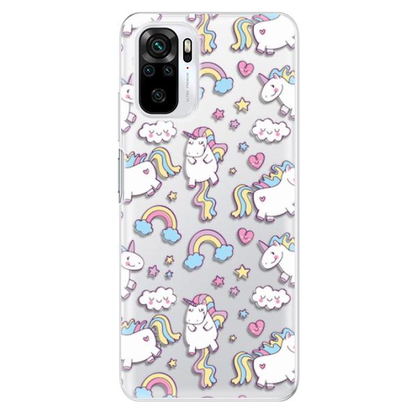 Odolné silikonové pouzdro iSaprio - Unicorn pattern 02 - Xiaomi Redmi Note 10 / Note 10S