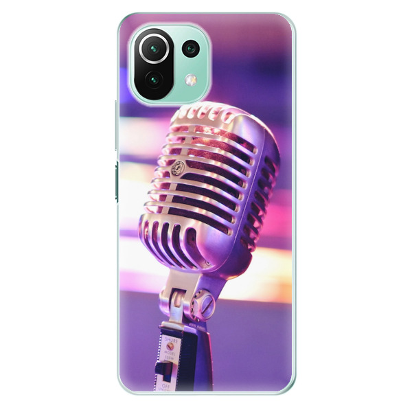 Odolné silikonové pouzdro iSaprio - Vintage Microphone - Xiaomi Mi 11 Lite