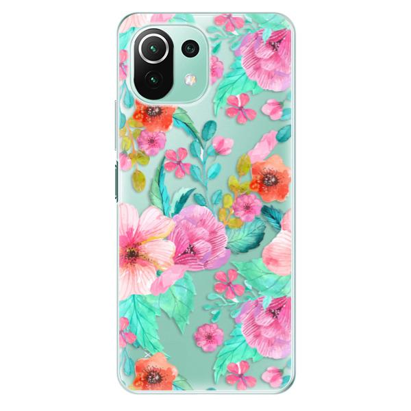 Odolné silikonové pouzdro iSaprio - Flower Pattern 01 - Xiaomi Mi 11 Lite