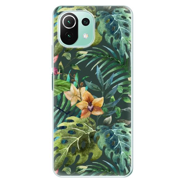 Odolné silikonové pouzdro iSaprio - Tropical Green 02 - Xiaomi Mi 11 Lite
