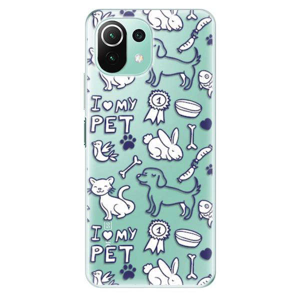 Odolné silikonové pouzdro iSaprio - Love my pets - Xiaomi Mi 11 Lite