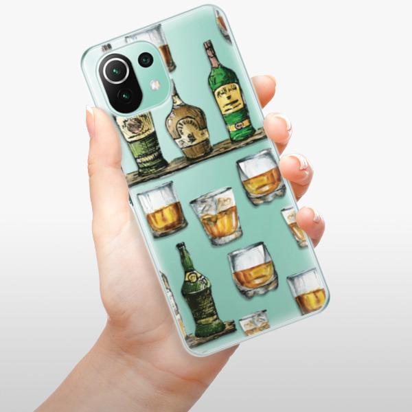 Odolné silikonové pouzdro iSaprio - Whisky pattern - Xiaomi Mi 11 Lite