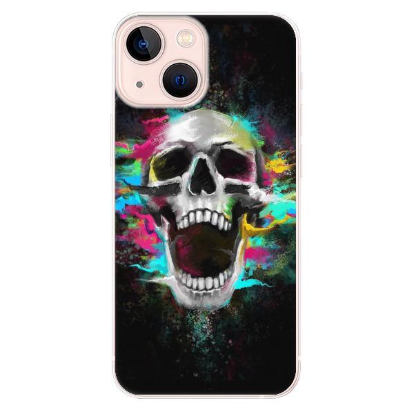 Odolné silikonové pouzdro iSaprio - Skull in Colors - iPhone 13 mini