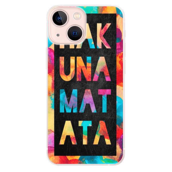 Odolné silikonové pouzdro iSaprio - Hakuna Matata 01 - iPhone 13 mini