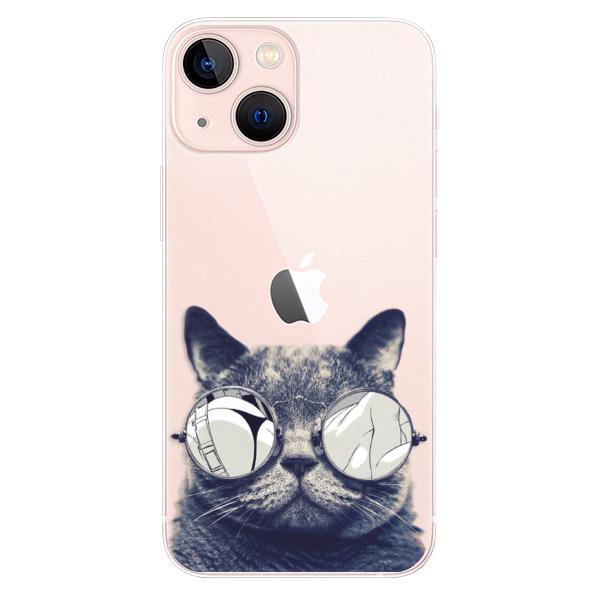 Odolné silikonové pouzdro iSaprio - Crazy Cat 01 - iPhone 13 mini