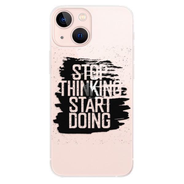 Odolné silikonové pouzdro iSaprio - Start Doing - black - iPhone 13 mini