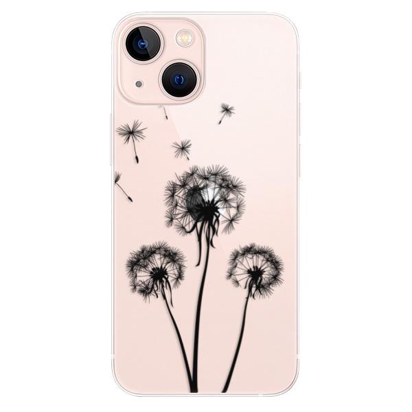 Odolné silikonové pouzdro iSaprio - Three Dandelions - black - iPhone 13 mini