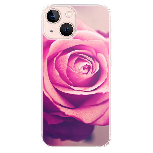 Odolné silikonové pouzdro iSaprio - Pink Rose - iPhone 13 mini