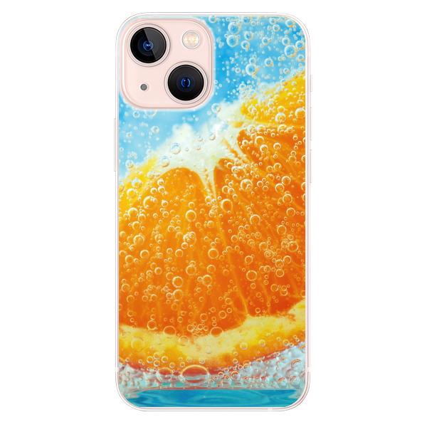 Odolné silikonové pouzdro iSaprio - Orange Water - iPhone 13 mini