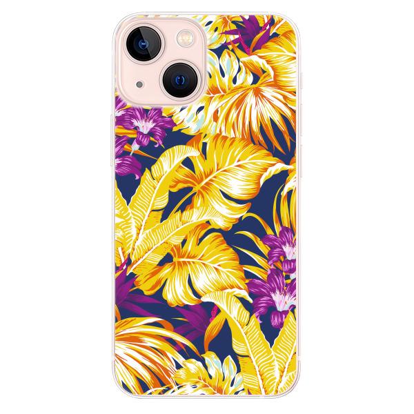 Odolné silikonové pouzdro iSaprio - Tropical Orange 04 - iPhone 13 mini