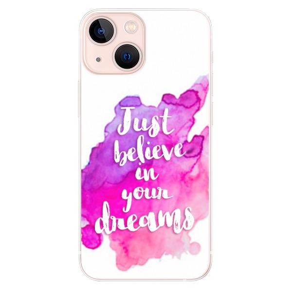 Odolné silikonové pouzdro iSaprio - Believe - iPhone 13 mini