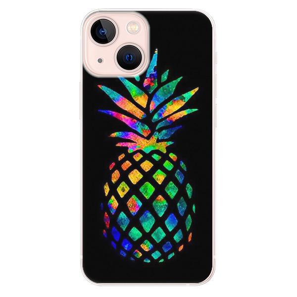 Odolné silikonové pouzdro iSaprio - Rainbow Pineapple - iPhone 13 mini
