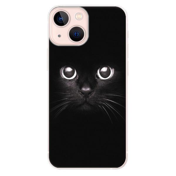 Odolné silikonové pouzdro iSaprio - Black Cat - iPhone 13 mini