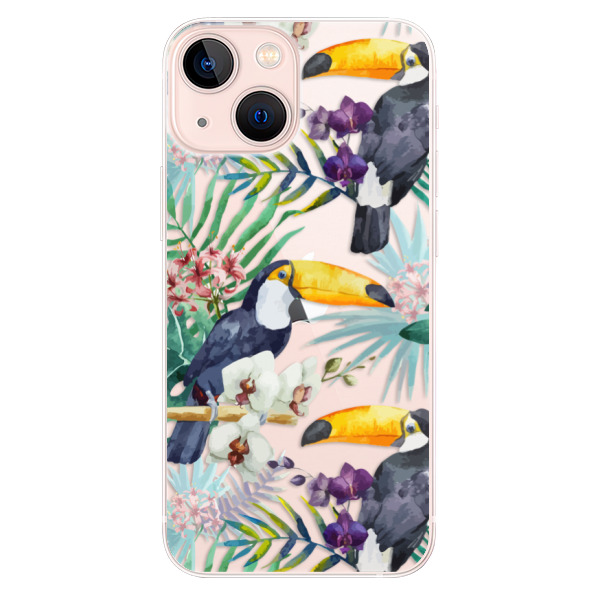 Odolné silikonové pouzdro iSaprio - Tucan Pattern 01 - iPhone 13 mini